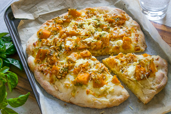 Smashing Pumpkin with Fetta Cheese Pizza Inspired by The Golden Greek - Theo Kalogeracos