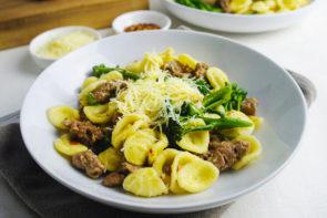 Orecchiette Pasta with Italian Sausage and Broccolini