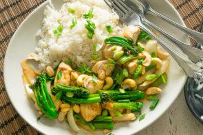 Thai Style Chicken & Cashew, with Broccolini & Jasmine Rice