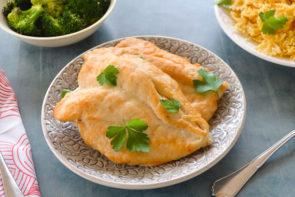 Chicken Scallopini with Oven Roasted Broccoli & Farfalle Pasta
